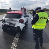 Wypadek na drodze S7 w Cedrach Małych. Trzy osoby trafiły do szpitala  ZDJĘCIA