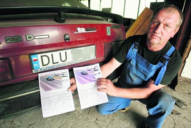 Ryszard Salamon dostał dwa wezwania ze straży miejskiej - różniły się tylko rejestracją