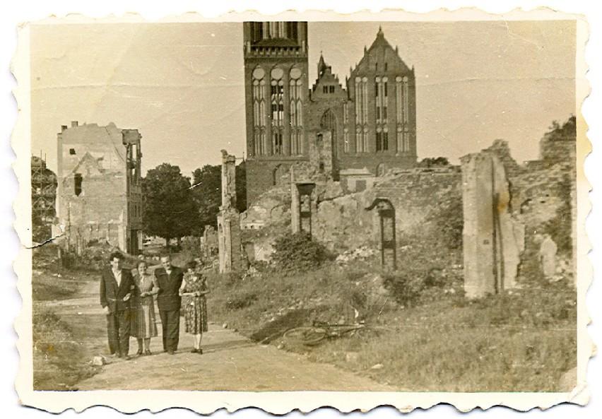 Około 1948 roku, ulica Mieszka I w Stargardzie