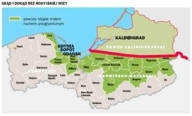 Mały ruch graniczny z obwodem kaliningradzkim od 27 lipca