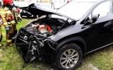 Zderzenie dwóch samochodów zablokowało DK 28 w Grybowie