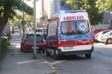 Wypadek na ulicy Chojnowskiej w Legnicy, poszkodowane dwie kobiety na pasach
