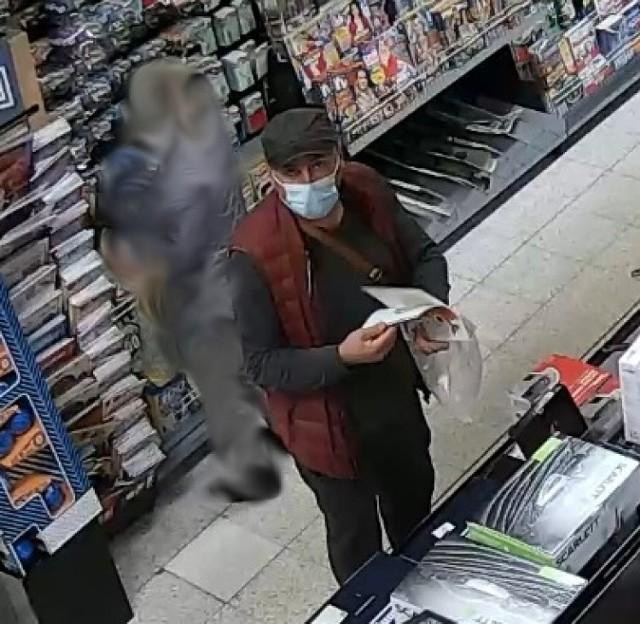 Policja poszukuje mężczyzny podejrzanego o kradzież i prosi o pomoc