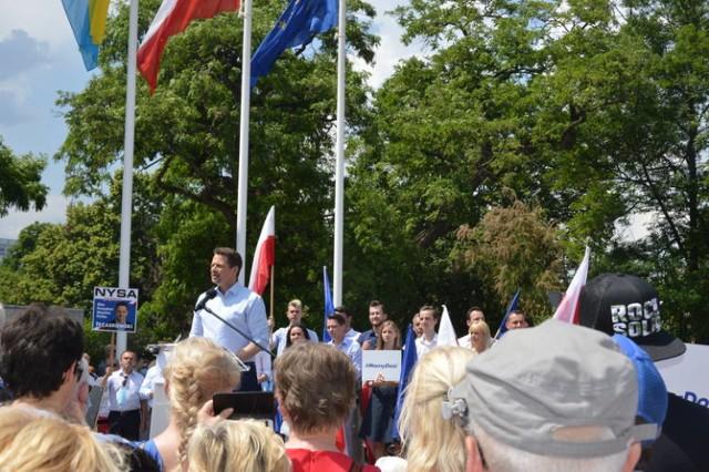 Tak wyglądała wizyta Rafała Trzaskowskiego w Opolu, gdzie gościł 13 czerwca.