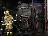 Pożar stodoły pod Goleniowem. Spłonął traktor