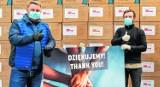 Jarosław Klimaszewski podziękował za maseczki, które dotarły do Bielska-Białej dzięki współpracy z firmą Martes Sport