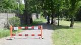 Park w Stargardzie zablokowany. Z jednej strony nie ma wyjścia i wejścia