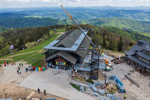 Platfoma widokowa w Krynicy - Zdroju w czasie budowy
