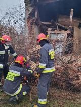 Na ul. Borek w Tomaszowie Maz. zawalił się budynek mieszkalny [ZDJĘCIA]
