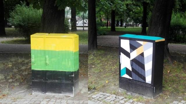 Skrzynki elektryczne w Katowicach tracą barwy GieKSy     Zobacz kolejne zdjęcia. Przesuwaj zdjęcia w prawo - naciśnij strzałkę lub przycisk NASTĘPNE