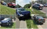 Karambol na ulicy Toruńskiej we Włocławku. Zderzenie trzech samochodów [zdjęcia]