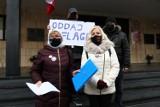 Działacze KOD u wojewody opolskiego po flagi Unii Europejskiej. Pilnowała ich policja