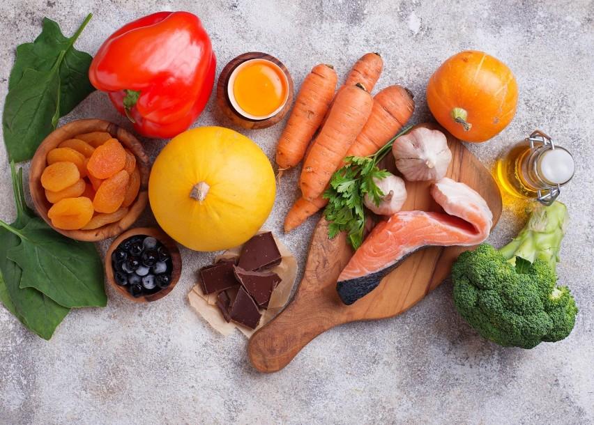 Karotenoidy takie jak beta-karoten, likopen czy luteina i...