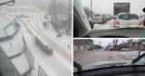 Atak zimy w Śląskiem! Na drogach błoto pośniegowe i gołoledź. Warunki do jazdy były bardzo trudne