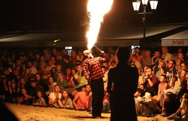 Festiwal Ognia na rynku Manufaktury