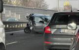 Wypadek na DTŚ w Chorzowie. Wszystkie pasy w stronę Gliwic zablokowane