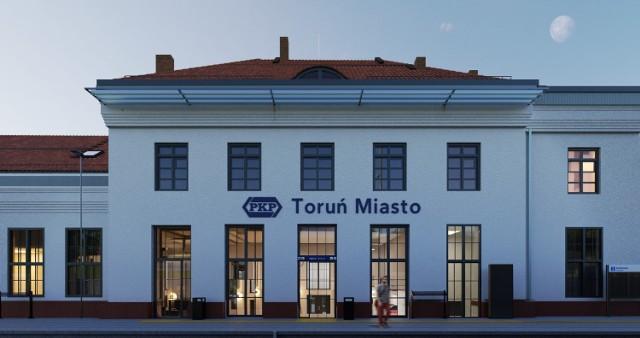 Tak miałyby wyglądać po remoncie dworce Toruń Miasto i Toruń Wschodni