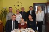 103. urodziny pani Janiny Marciniak - goście złożyli życzenia szanownej solenizantce