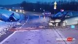 Okocim. Wypadek na DK75 w Okocimiu, jedna osoba została ranna, droga zablokowana