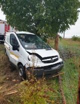 Łowyń. Zdarzenie drogowe w okolicy Łowynia. Auto wypadło z drogi