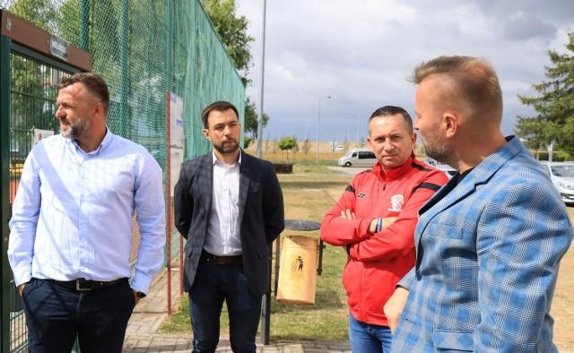 Przedstawiciele Lecha byli pod wrażeniem międzyrzeckiej bazy sportowej.