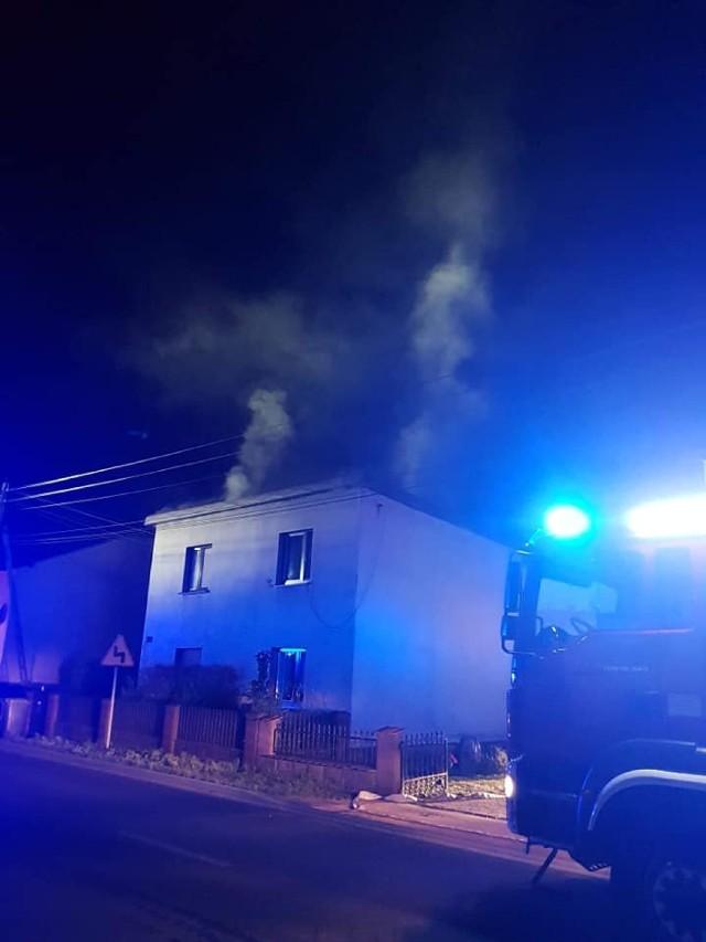 Pożar domu w Kaletach