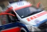 Wypadek w Paszynie. Na DK 28 zderzyły się dwa samochody, jeden się zapalił. Są ranni, droga była zablokowana