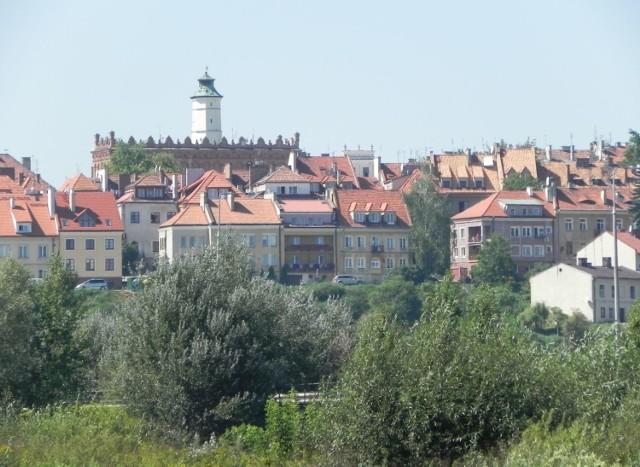 Panorama Sandomierza od strony Wisły.