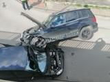Kolizja w Zawierciu. Zderzyły się dwa samochody. Wyglądało bardzo groźnie