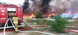 Ogromny pożar w Sobolewie na Dolnym Śląsku. Płonęło nielegalne wysypisko śmieci