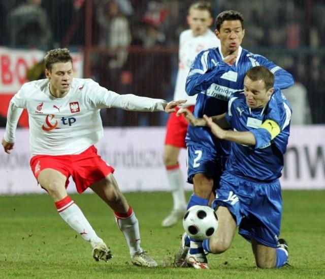 Mecz towarzyski Polska - reprezentacja gwiazd Orange Ekstraklasy w Szczecinie - 11 marca 2008.
