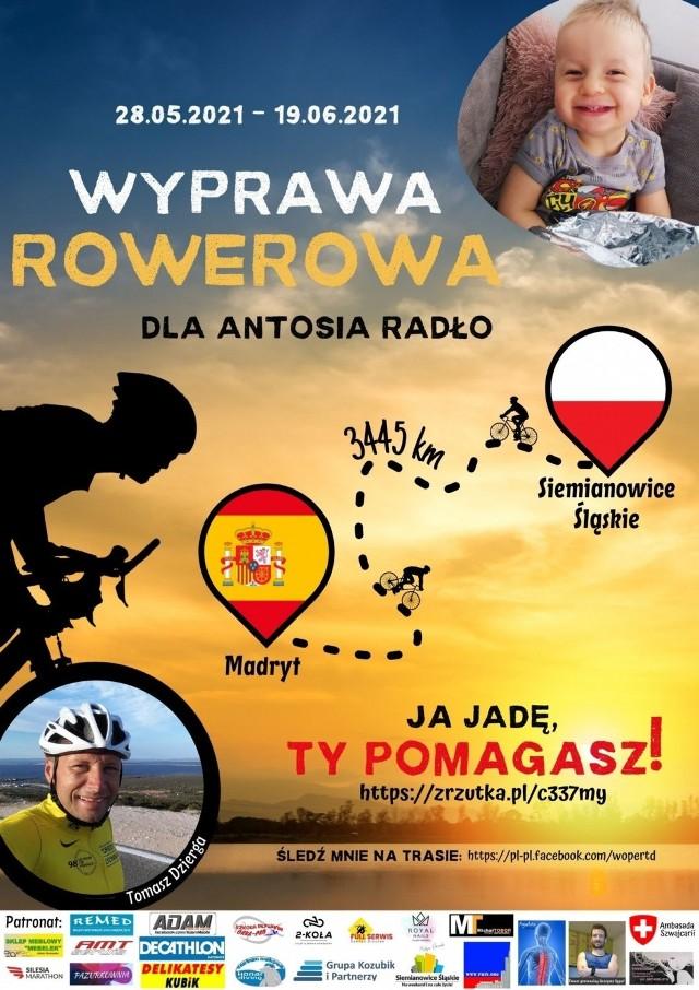 Tomasz Dzierga wybiera się w podróż rowerową do Madrytu, wspierając małego Antosia Zobacz kolejne zdjęcia/plansze. Przesuwaj zdjęcia w prawo - naciśnij strzałkę lub przycisk NASTĘPNE