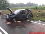Wypadek w Pisarzowicach. Skoda zderzyła się z autobusem PKS
