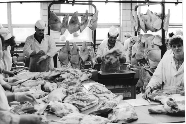 Linia produkcyjna w Zakładach Mięsnych w Grudziądzu