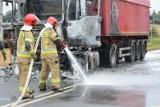 Pożar ciężarówki w Pokrzywnie