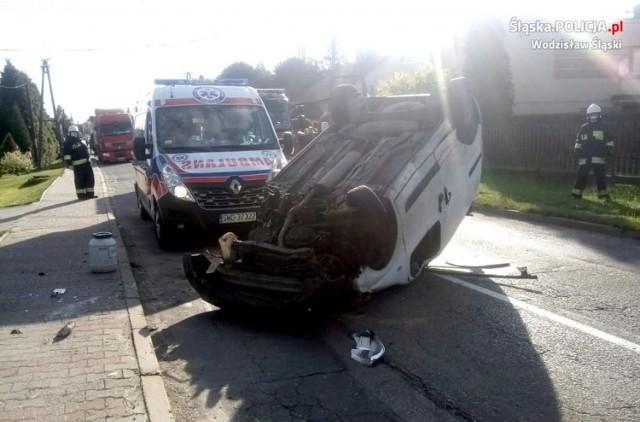 Radlin, Wodzisław Śląski: pijana kobieta straciła panowanie nad autem