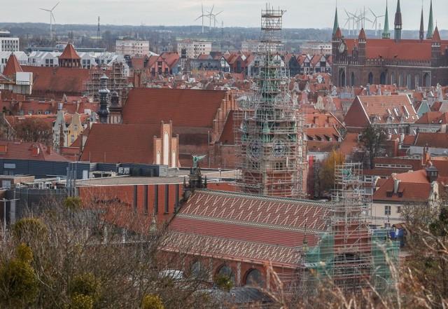 Panorama Gdańska  z Góry Gradowej 27.11.2020