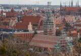 Panorama Gdańska z Góry Gradowej. Jesień odkrywa nowe oblicze miasta. Zobaczcie zdjęcia