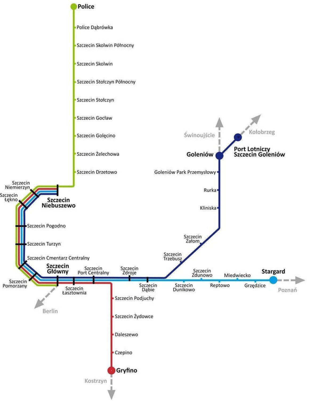 Szczecinska Kolej Metropolitalna Jest Mapa Z Oficjalnymi Nazwami
