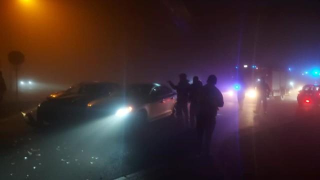 Na ul. Tysiąclecia w Oświęccimiu zderzyły się dwa smochody osobowe.