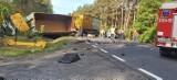 Zderzenie ciężarówek pod Zieloną Górą. Sprawę wypadku, w którym zginął Paweł Czerniak, strażak z Lubska nadzoruje prokurator