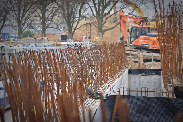 Budowa Fabryki Wody w Szczecinie.