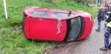 Jastrzębie: oto skutki zbyt szybkiej jazdy. Kierowca wypadł z drogi i wpadł do rowu...[ZDJĘCIA]
