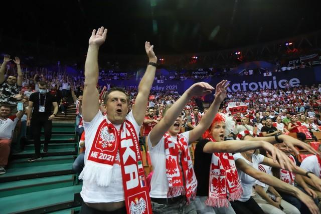 Mecz Polska - Serbia o brązowy medal Mistrzostw Europy w siatkówce Katowice 2021