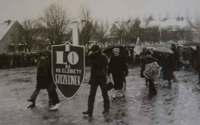 Pamiętny śnieżny pochód w roku 1986