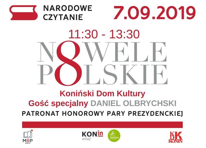Narodowe Czytanie z Danielem Olbrychskim w Koniński Dom Kultury  7 września .