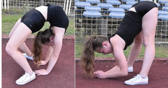Zuzanna Mikołajczyk z Zielonej Góry ma 17 lat i niezwykłe umiejętności akrobatyczne