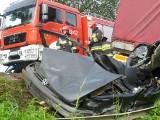 Śmiertelny wypadek w Młodasku na DK 92 [ZDJĘCIA, WIDEO]