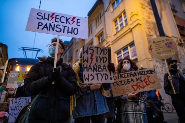 Poniedziałkowa blokada miasta na ulicy Gdańskiej.