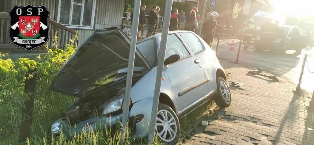 Wypadek w Kwaczale. Samochody zostały uszkodzone